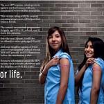 פרסומת בעד חיסון הפפילומה באנגליה